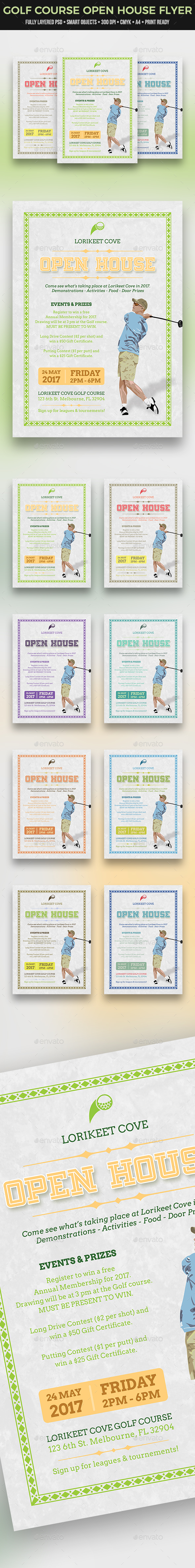 Golf Course Open House Flyer - Sports Events