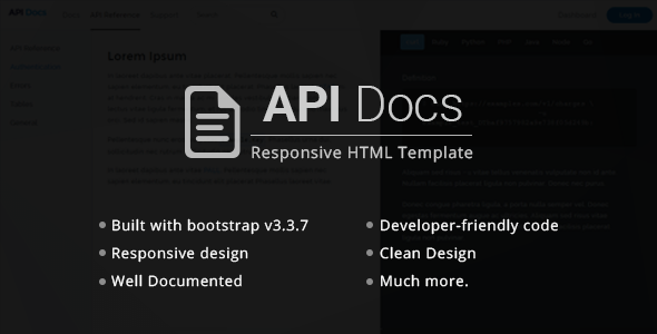 API Docs - REST API Documentation Templates