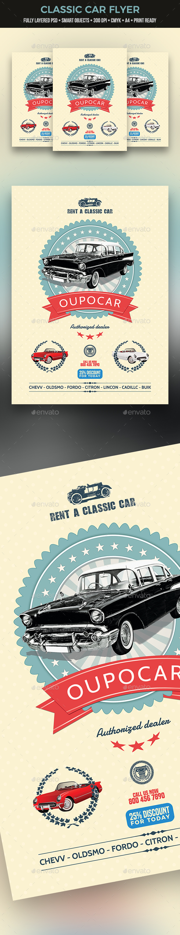 Classic Car Flyer - Commerce Flyers