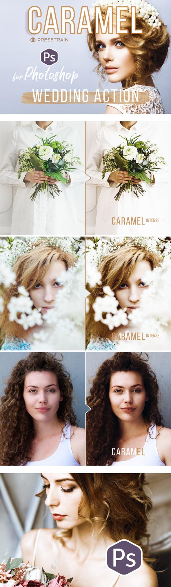 Caramel Wedding Photoshop Action - Photo Effects Actions
