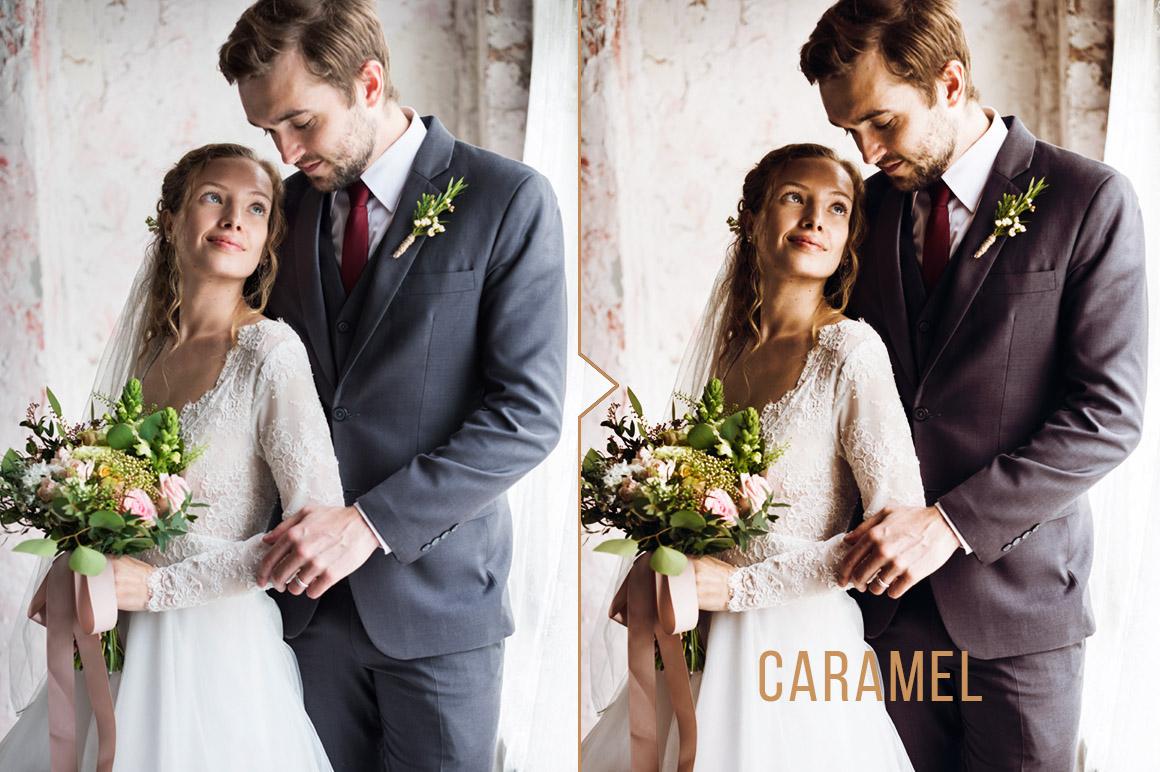 Caramel Wedding Photo Action