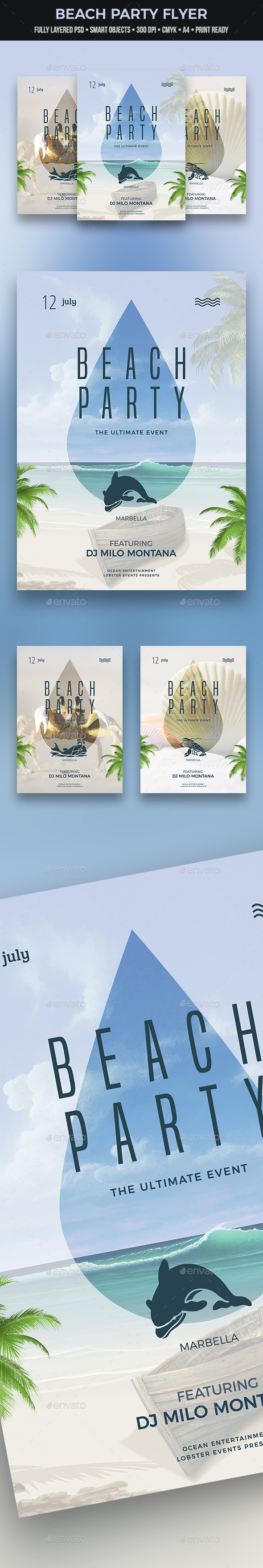 Beach Party Flyer - Clubs & Parties Events