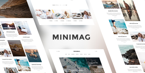 MINIMAG - Magazine & Blog PSD Template