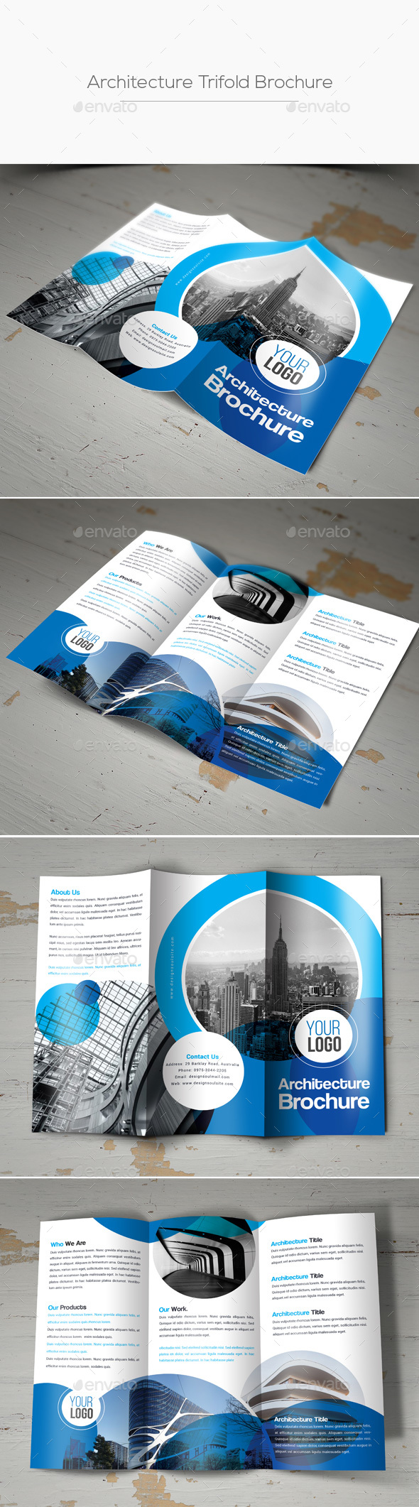 Architecture Trifold Brochure - Corporate Brochures