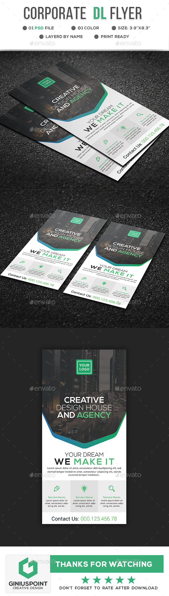 Corporate DL Flyer - Corporate Flyers