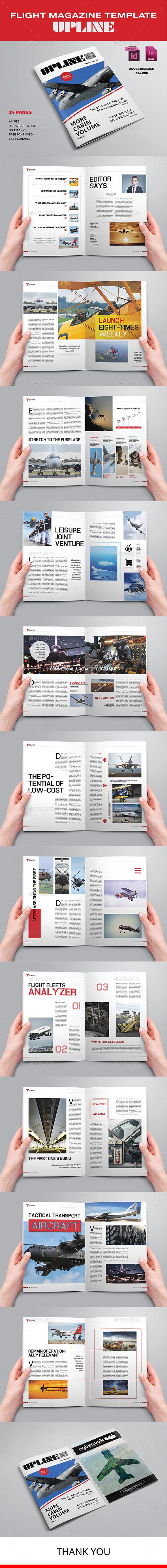 Flight Magazine Template - Upline - Magazines Print Templates