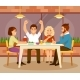 Friends in a Cafe - GraphicRiver Item for Sale