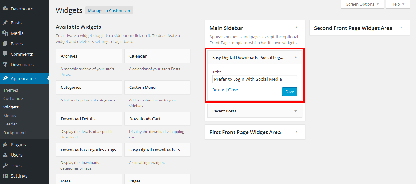 Shop customer account login/downloader - Easy Digital Downloads Social Login