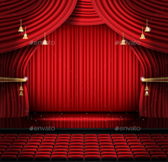 GraphicRiver Red Stage Curtain with Seats and Copy Space 20721060