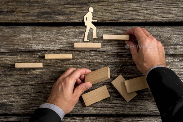 Conceptual image of personal and career promotion - Stock Photo - Images