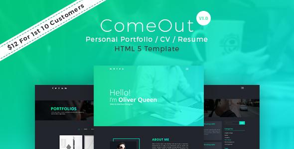 Image of ComeOut -  Html5 Portfolio CV/Resume Template