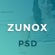 Zunox - Creative Multipurpose PSD Template - ThemeForest Item for Sale