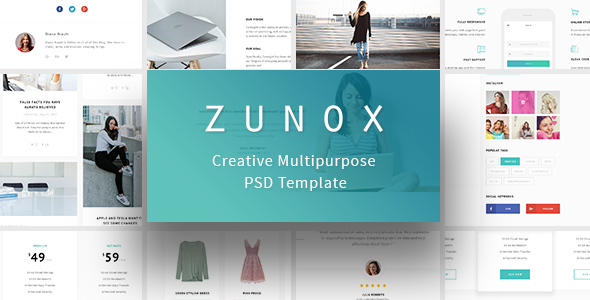 Zunox - Creative Multipurpose PSD Template - Creative PSD Templates
