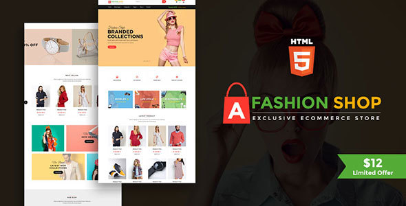 Image of Fashion Shop - Multipurpose Ecommerce Responsive Html Template