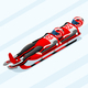 Double Luge Winter Sports Vector