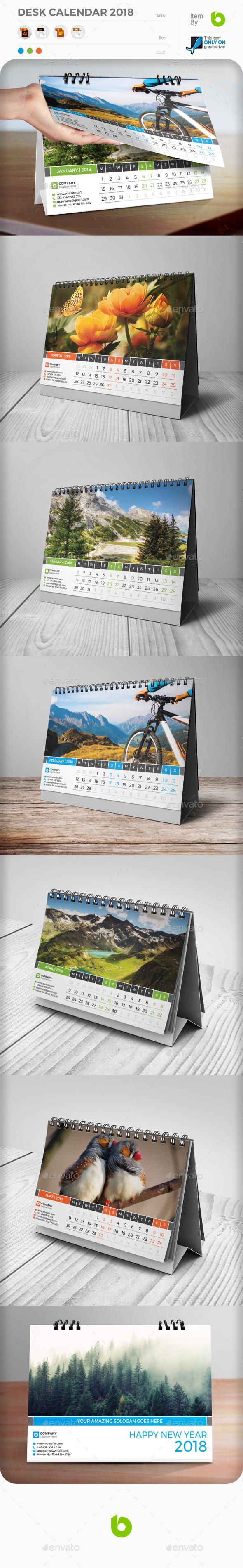 GraphicRiver Desk Calendar 2018 20710271