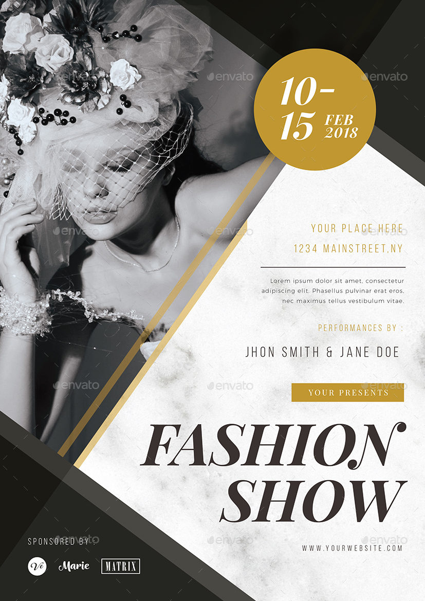 fashion show flyer by vynetta graphicriver
