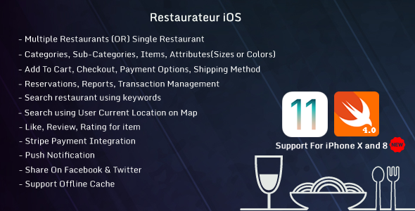 Restaurateur iOS (Full Application For Restaurant Platform) - CodeCanyon Item for Sale