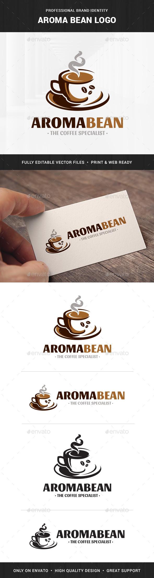 Aroma Bean - Coffee Logo - Logo Templates