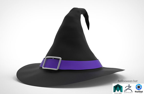 hallooween Witch hat - 3DOcean Item for Sale