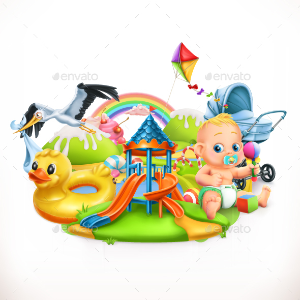 Kids and Toys - Miscellaneous Vectors