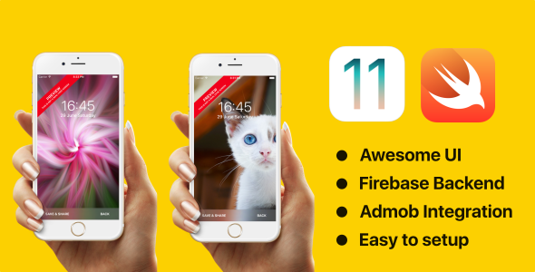Wallpapers - Swift 3 - Firebase - Admob - CodeCanyon Item for Sale