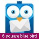 Square Blue Bird - GraphicRiver Item for Sale