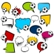 Comic Empty Football Text Speech Bubbles