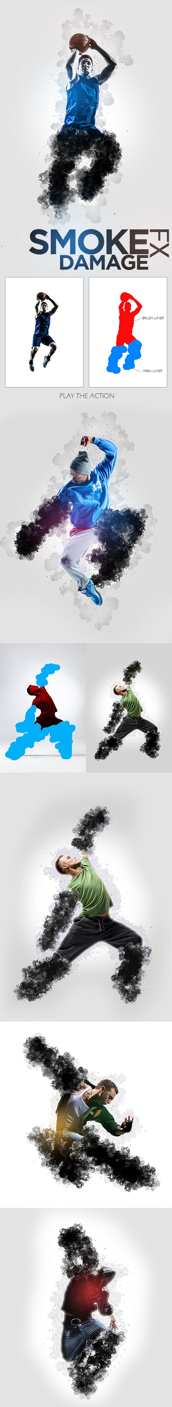 Smoke Damage Ps Action - Photoshop Add-ons