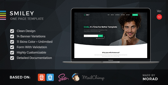 Smiley - HTML Business & Startup One Page Template