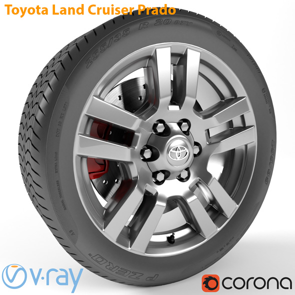 Toyota Land Cruiser Prado Wheel - 3DOcean Item for Sale
