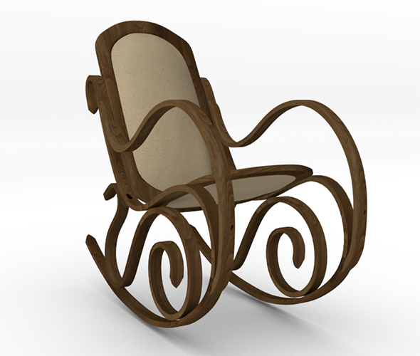 Bentwood Rocking Chair - 3DOcean Item for Sale