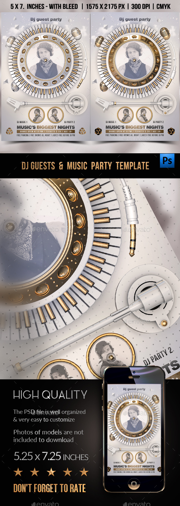 DJ Guest & Music Party Template - Clubs & Parties Events