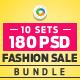 Fashion Sale Banners Bundle - 10 Sets - 180 Banners