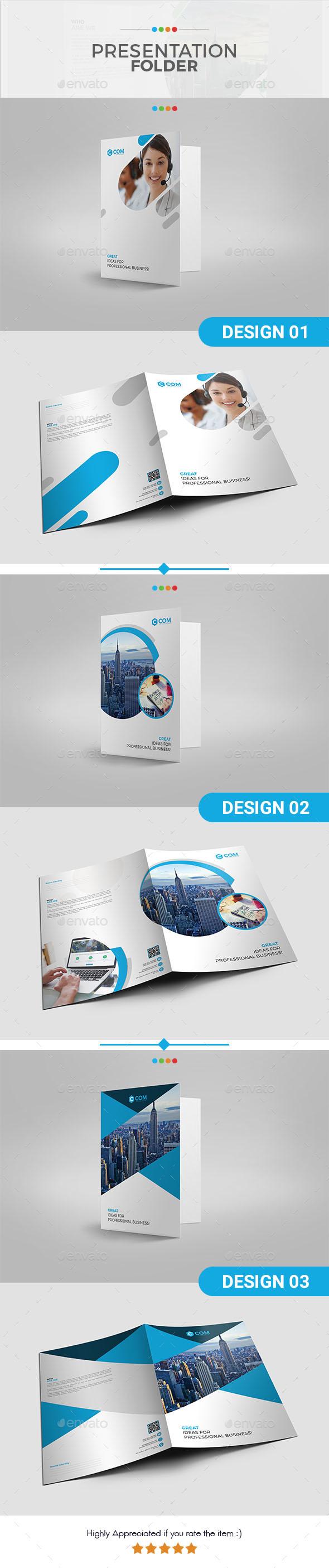 Presentation Folder Bundle Set 01 - Stationery Print Templates