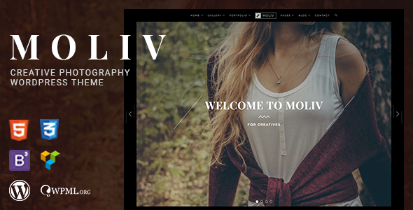 Image of MOLIV - A Creative Photography Portfolio WordPress Theme