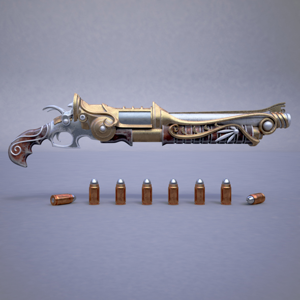 Fantasy rifle - 3DOcean Item for Sale