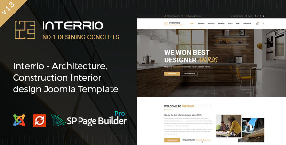 Interrio - Architecture & Interior design Joomla Template - Business Corporate