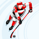 Hockey 3d Vector Sport Figure