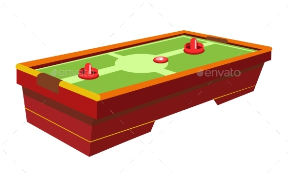 Table Hockey with Round Paddle and Thin Washer - Sports/Activity Conceptual