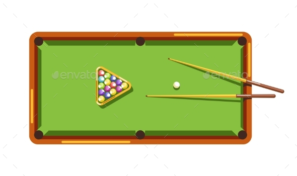 Billiard Table - Man-made Objects Objects