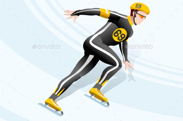 Short Track Skating Winter Sports - Sports/Activity Conceptual