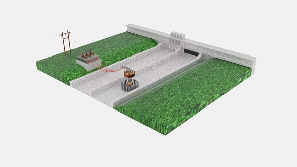 Hydro Power Plant - 3DOcean Item for Sale