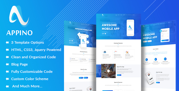 Image of APPINO! - A Perfect Mobile App Landing Page
