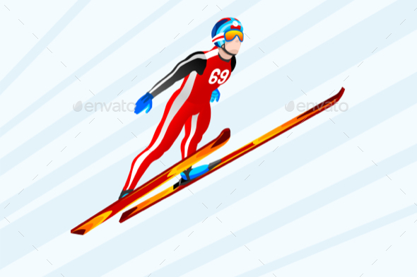 Ski Jumping Winter Sports - Sports/Activity Conceptual