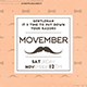 Movember Flyer Template V2 - GraphicRiver Item for Sale