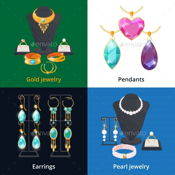 Jewelry Shop with Different Luxury Accessories - Man-made Objects Objects