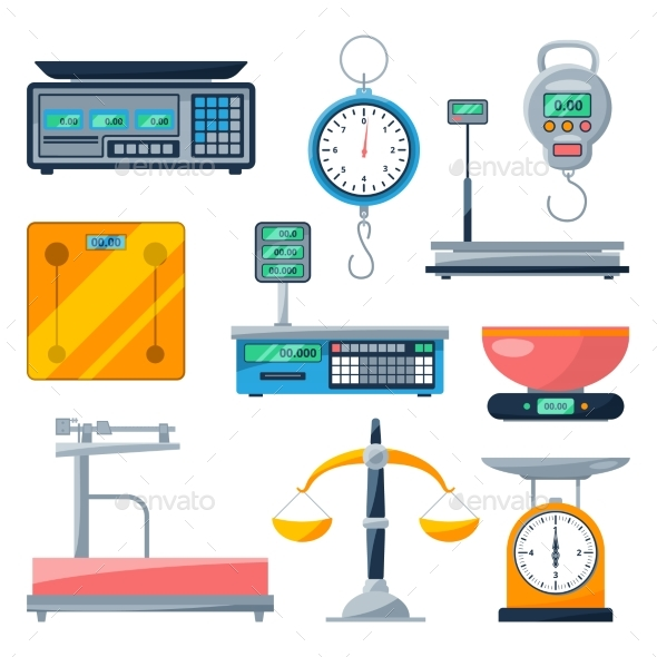Electronic, Balance and Other Types of Scales - Man-made Objects Objects