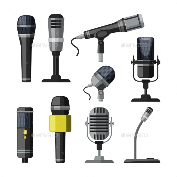 Recorder, Microphone and Dictaphone for Reporters - Man-made Objects Objects