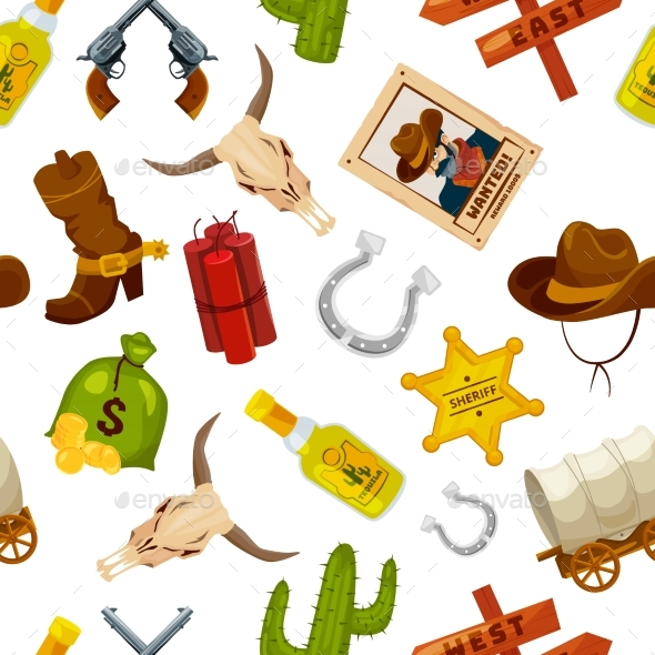 Wild West Objects - Backgrounds Decorative